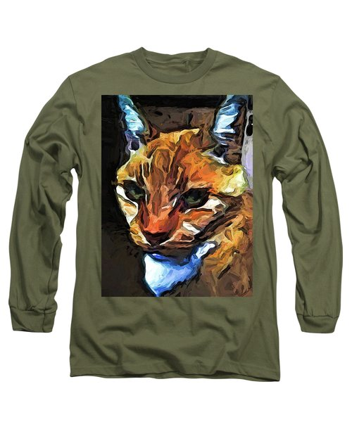 The Gaze Of The Gold Cat Long Sleeve T-Shirt