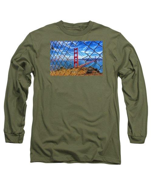 The Golden Gate Bridge  Long Sleeve T-Shirt by Alpha Wanderlust