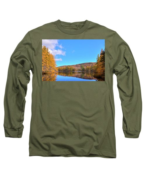 Long Sleeve T-Shirt featuring the photograph The Golden Tamaracks Of Woodcraft Camp by David Patterson