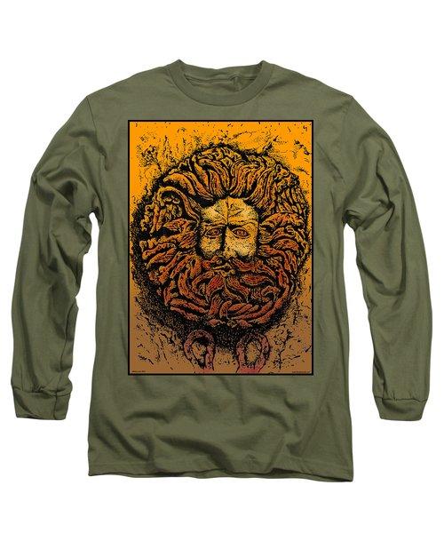The Gorgon Man Celtic Snake Head Long Sleeve T-Shirt