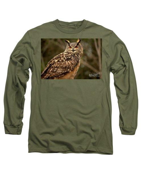 The Great Horned Owl Long Sleeve T-Shirt