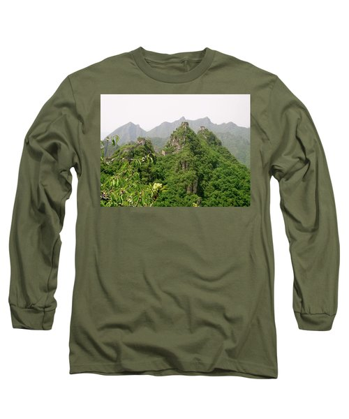 The Great Wall Of China Winding Over Mountains Long Sleeve T-Shirt