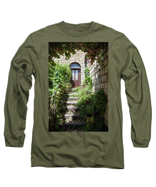 The Green Entrance Long Sleeve T-Shirt by Yoel Koskas