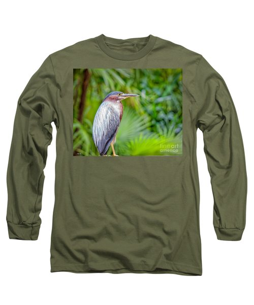 The Green Heron Long Sleeve T-Shirt