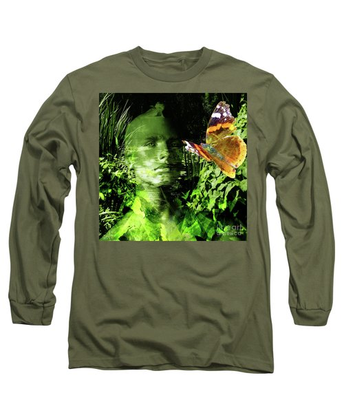 Long Sleeve T-Shirt featuring the photograph The Green Man by LemonArt Photography
