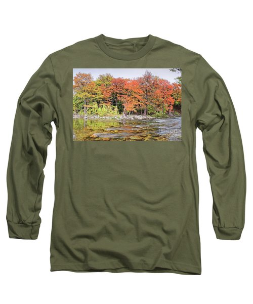 The Guadalupe River As It Makes Its Way Through Gruene - New Braunfels - Texas Hill Country II Long Sleeve T-Shirt