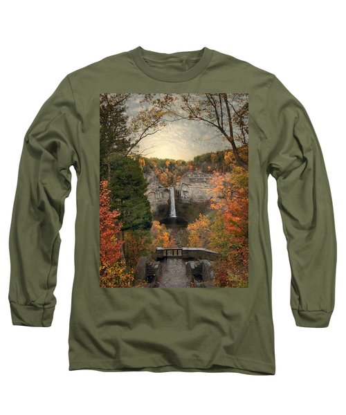 The Heart Of Taughannock Long Sleeve T-Shirt