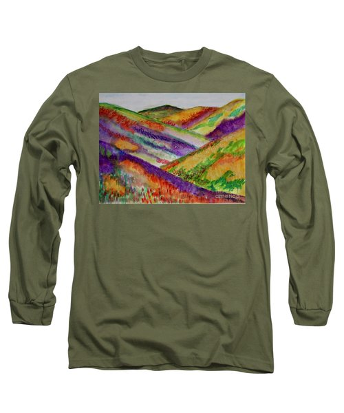 The Hills Are Alive Long Sleeve T-Shirt by Kim Nelson