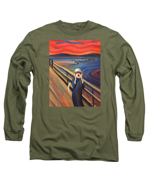 Long Sleeve T-Shirt featuring the painting The Holler by Randol Burns