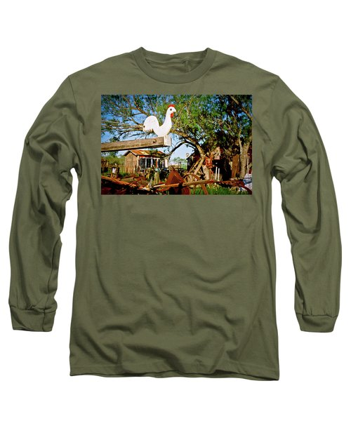 Long Sleeve T-Shirt featuring the photograph The Iron Chicken by Linda Unger