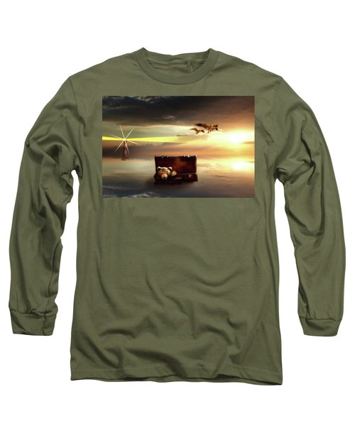 The Journey Begins  Long Sleeve T-Shirt by Nathan Wright
