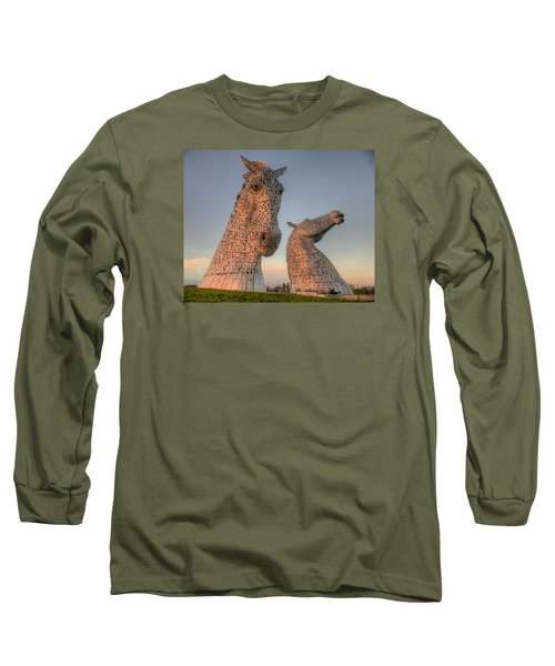 The Kelpies Long Sleeve T-Shirt by Ray Devlin