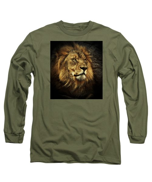 Long Sleeve T-Shirt featuring the mixed media The King by Elaine Malott