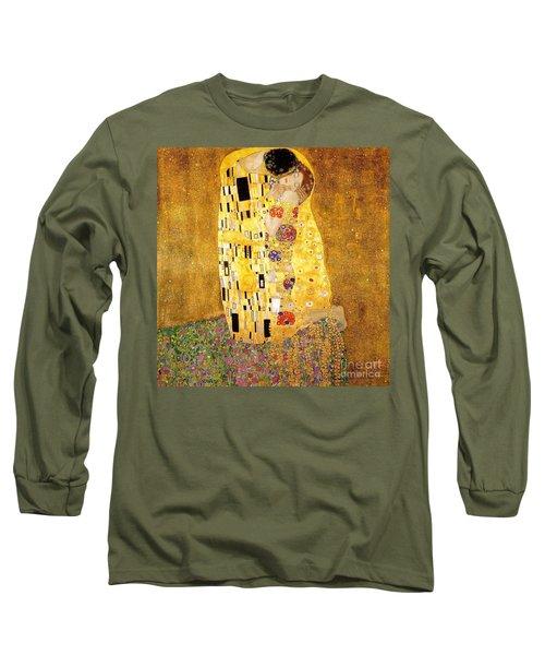 The Kiss Long Sleeve T-Shirt by Klimt