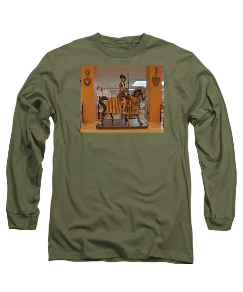 Long Sleeve T-Shirt featuring the photograph The Knight On Horseback by Mark Dodd