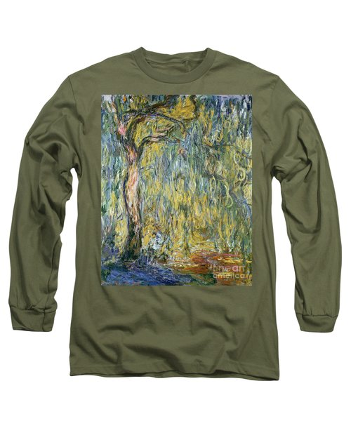 The Large Willow At Giverny Long Sleeve T-Shirt