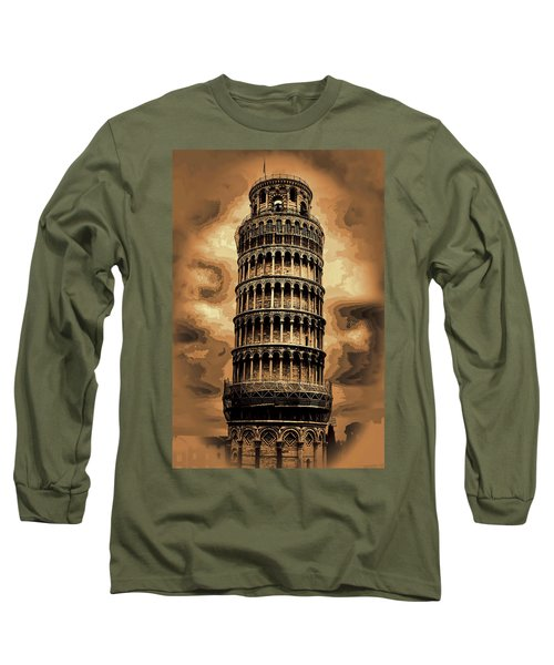 Long Sleeve T-Shirt featuring the photograph The Leaning Tower Of Pisa by Tom Prendergast