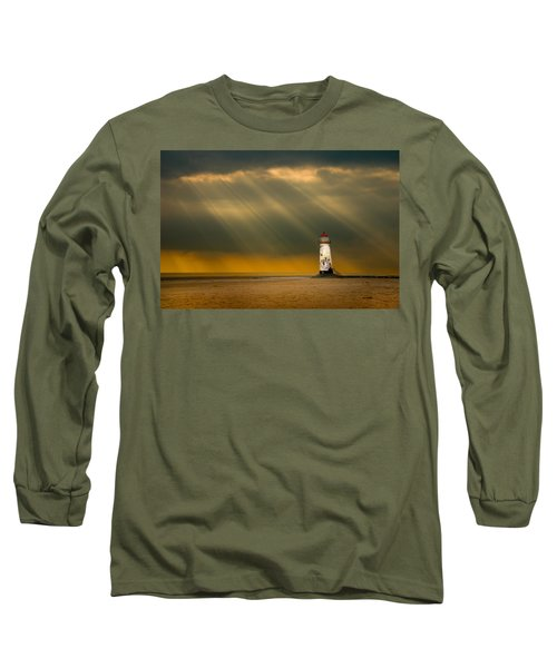 The Lighthouse As The Storm Breaks Long Sleeve T-Shirt