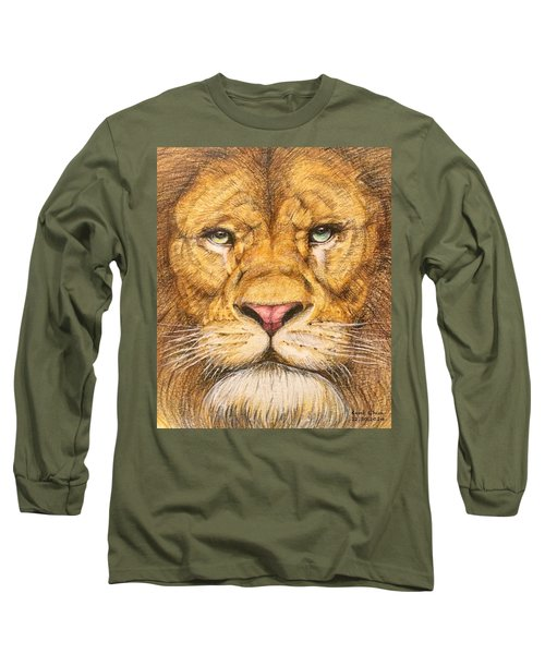 The Lion Roar Of Freedom Long Sleeve T-Shirt by Kent Chua