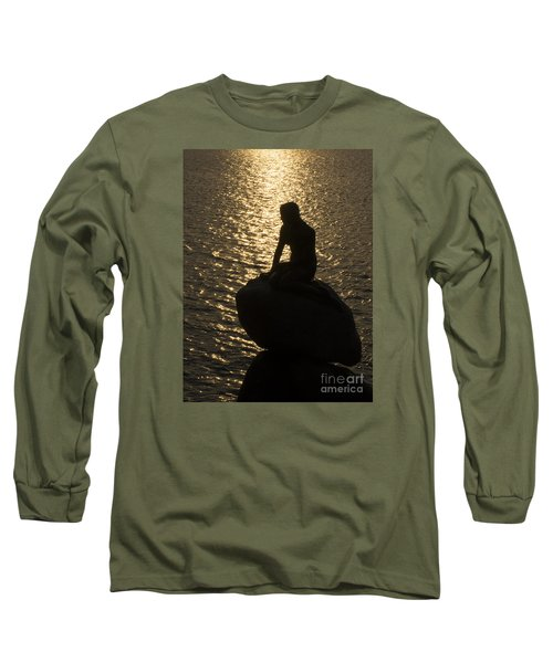 Long Sleeve T-Shirt featuring the photograph The Little Mermaid by Inge Riis McDonald