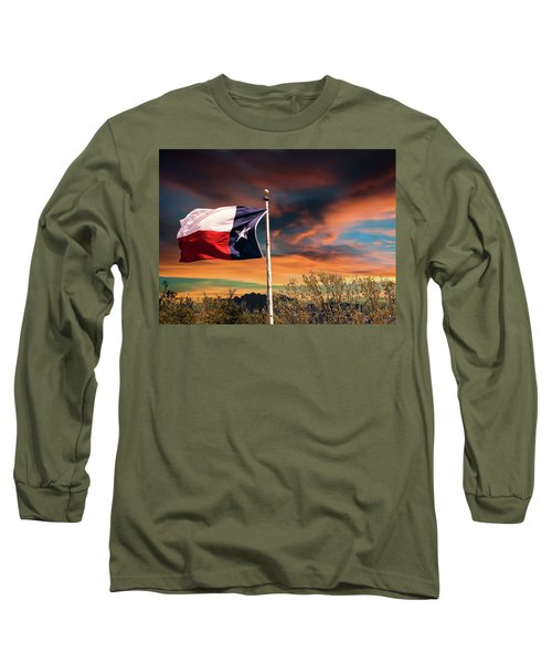 The Lone Star Flag Long Sleeve T-Shirt