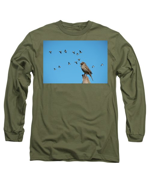 The Lonely Sparrow Long Sleeve T-Shirt