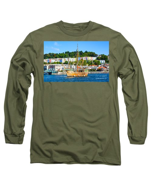 The Matthew In Bristol Harbour Long Sleeve T-Shirt by Colin Rayner