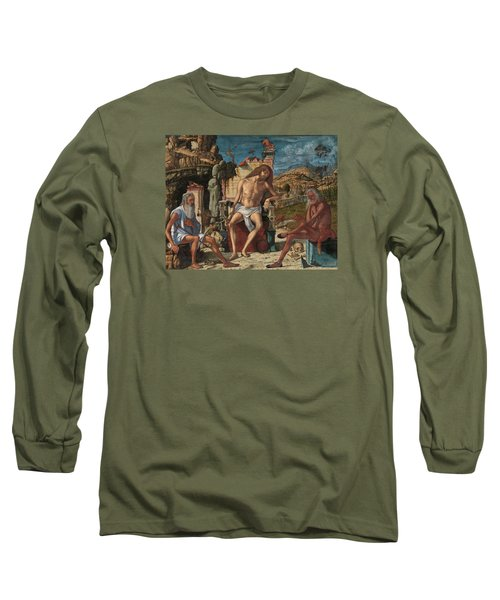 Long Sleeve T-Shirt featuring the painting The Meditation On The Passion by Vittore Carpaccio