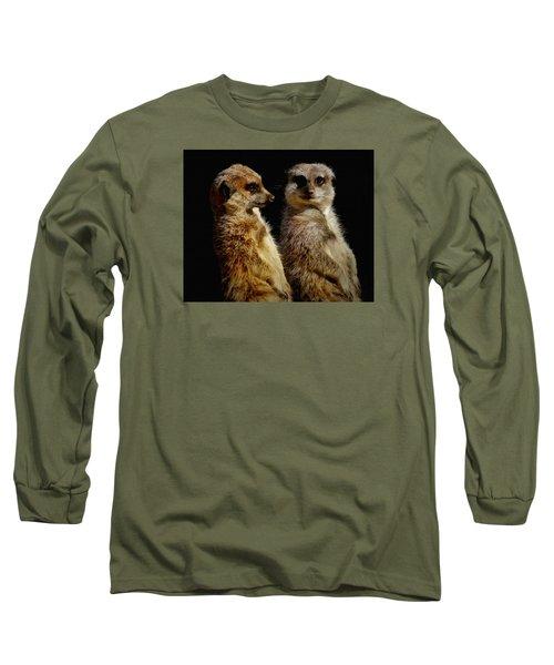 The Meerkats Long Sleeve T-Shirt by Ernie Echols