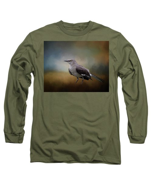 Long Sleeve T-Shirt featuring the photograph The Mockingbird A Bird Of Many Songs by David and Carol Kelly