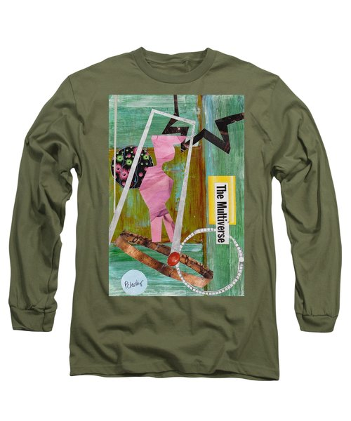 Long Sleeve T-Shirt featuring the painting The Multiverse by Patricia Cleasby