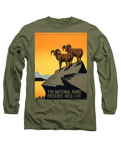 The National Parks Poster Long Sleeve T-Shirt