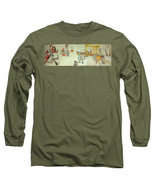 the Netherlands scroll Long Sleeve T-Shirt by Debbi Saccomanno Chan
