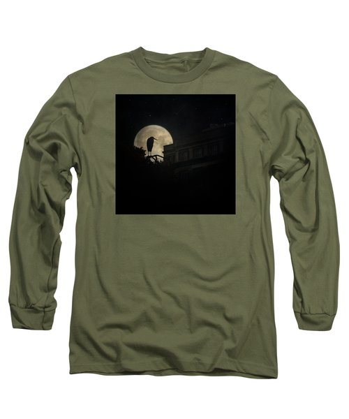 Long Sleeve T-Shirt featuring the photograph The Night Of The Heron by Chris Lord