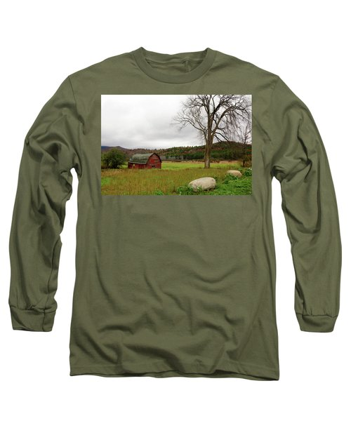 The Old Barn With Tree Long Sleeve T-Shirt