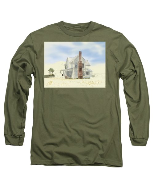 Long Sleeve T-Shirt featuring the painting The Home Place - Silent Eyes by Joel Deutsch
