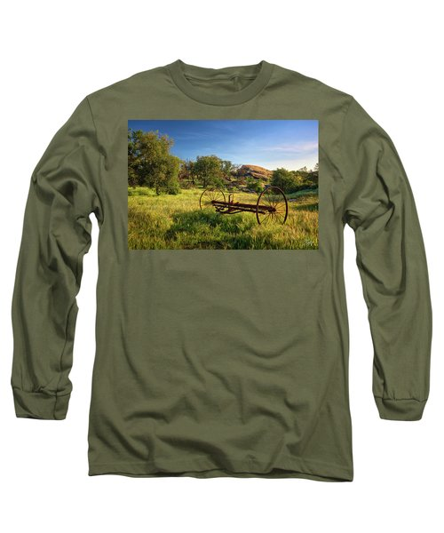 The Old Mower 1 Long Sleeve T-Shirt by Endre Balogh