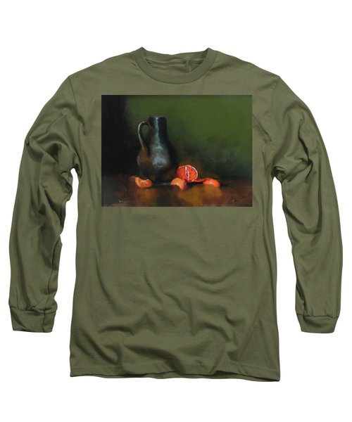The Old Stoneware Mug Long Sleeve T-Shirt by Barry Williamson