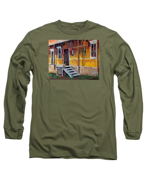 Long Sleeve T-Shirt featuring the painting The Old Warehouse by Jim Phillips