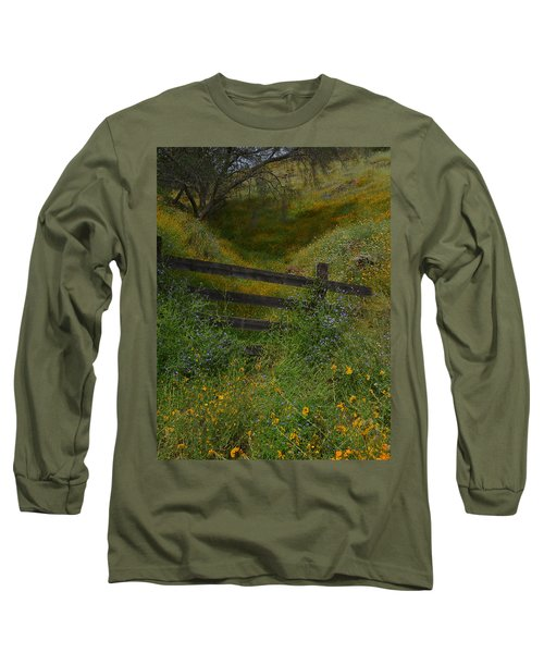 Long Sleeve T-Shirt featuring the photograph The Old Wooden Fence by Debby Pueschel