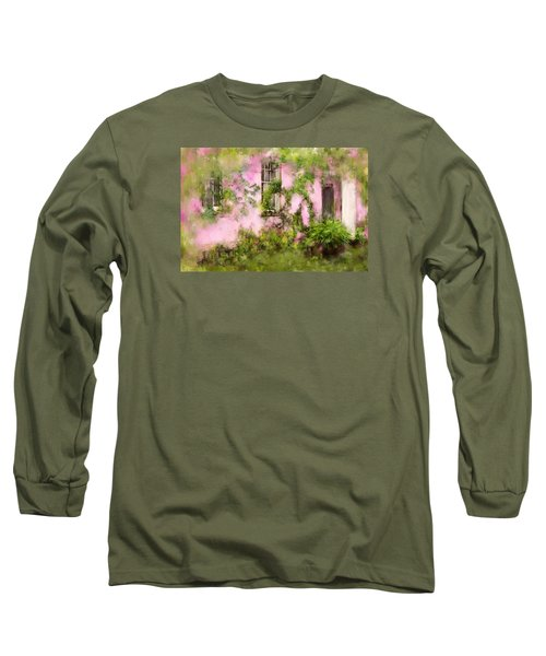 The Olde Pink House In Savannah Georgia Long Sleeve T-Shirt by Carla Parris