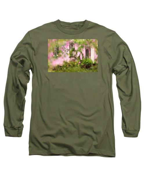 The Olde Pink House In Savannah Georgia Long Sleeve T-Shirt