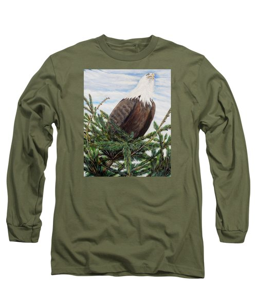 Long Sleeve T-Shirt featuring the painting The Oversee'er by Marilyn  McNish