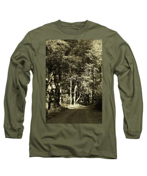 Long Sleeve T-Shirt featuring the photograph The Path Less Traveled by John Schneider