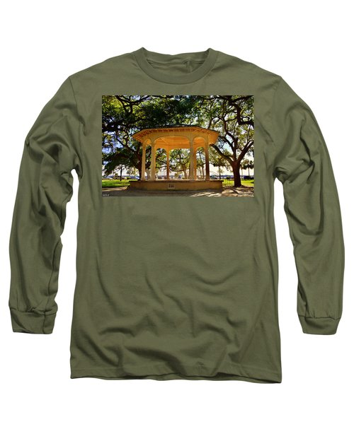 The Pavilion At Battery Park Charleston Sc  Long Sleeve T-Shirt
