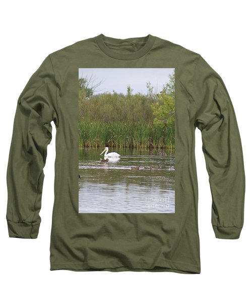 The Pelican And The Ducklings Long Sleeve T-Shirt by Alyce Taylor