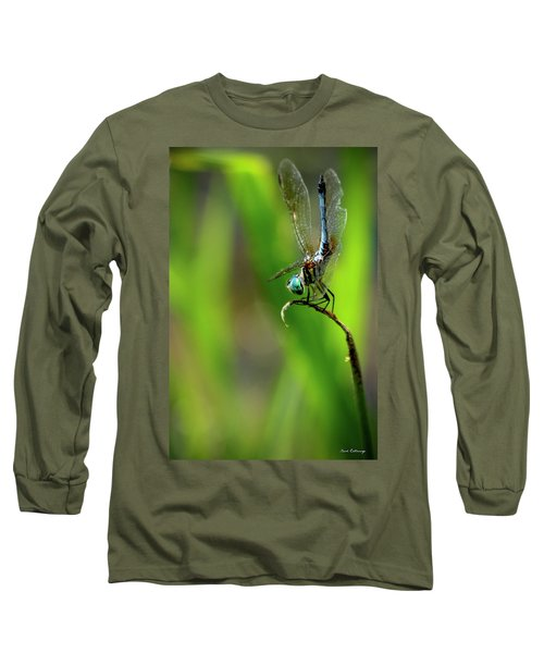 Long Sleeve T-Shirt featuring the photograph The Performer Dragonfly Art by Reid Callaway
