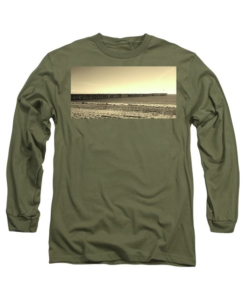 The Pier Long Sleeve T-Shirt by Mary Ellen Frazee