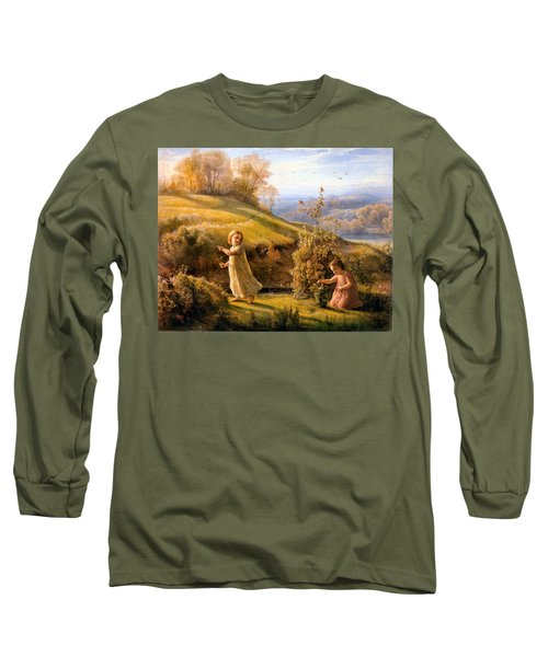 The Poem Of The Soul Spring Anne Francois Louis Janmot 1854. Long Sleeve T-Shirt