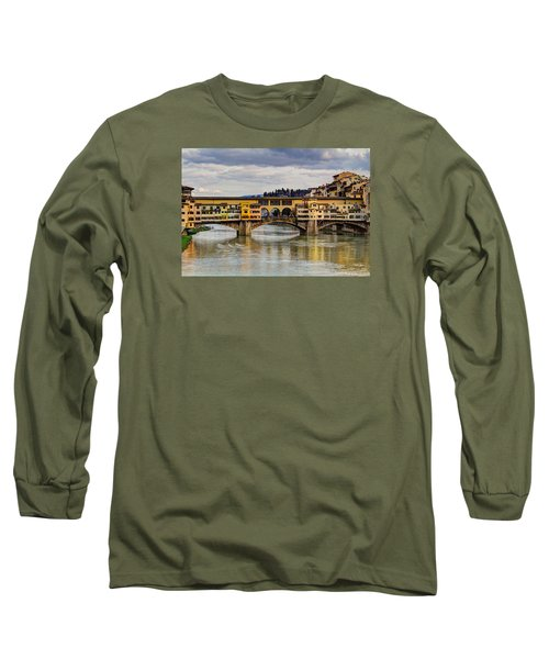 Long Sleeve T-Shirt featuring the photograph The Ponte Vecchio by Wade Brooks